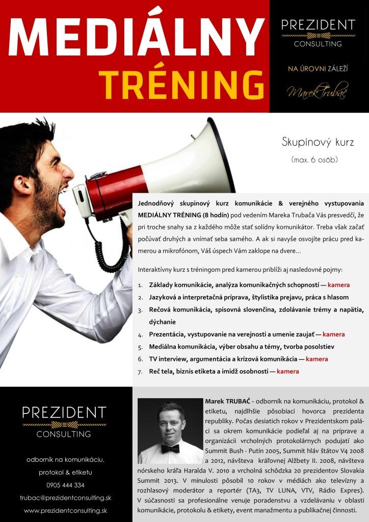 MEDIÁLNY TRÉNING -komunikácia & verejné vystupovanie 2018 - skupinový 8 hod